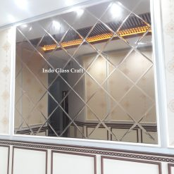 Cermin Dinding Bevel Wajik