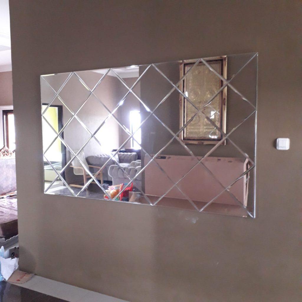 Cermin Dinding Bevel Wajik 180cm x 90 cm (4)