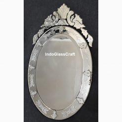 CD 004027 Cermin Hias Ukir Oval 114 x 60 cm